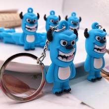 Fashion Cute Q Version Monsters Inc Monsters University Mike Wazowski Sully Keychain Action Figure Model Toys Dolls Key rings(China)