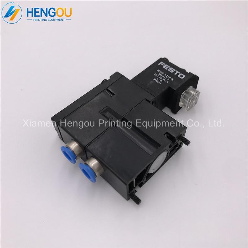 5 pieces free shipping valve M2.184.1121/05 Solenoid valve MEBH-4/2-QS-6-SA offset printing machine parts