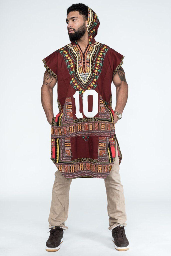 African Tribal boho Men Dashiki Print Black Succinct Hippie Top   t     shirts   casual loose Clothes hooded