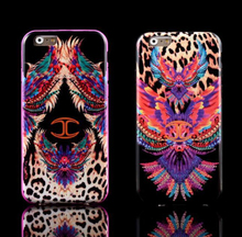 JUST CAVALLI Soft TPU Silicon Colored Leopard/Snake Print Case For iPhone 6 6s 6 Plus 6s Plus,Free Shipping