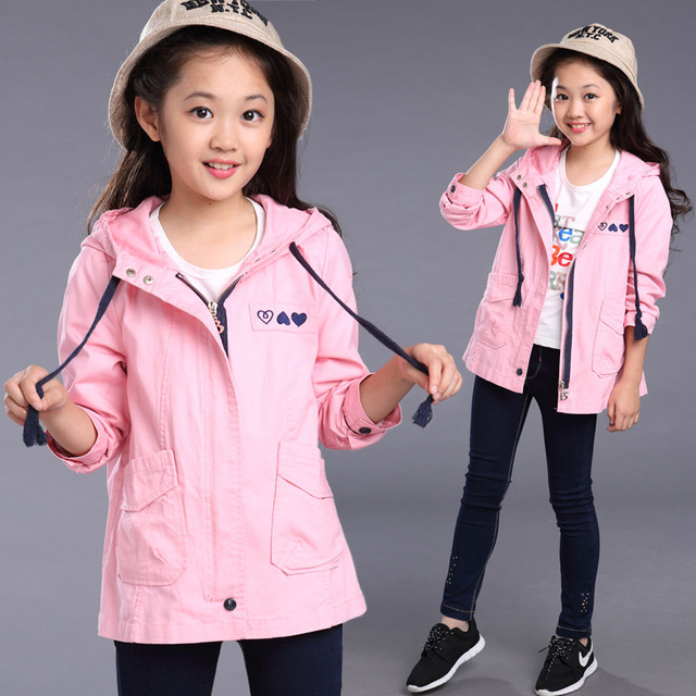 Girls Outerwear for Children Coat Casual Children Jacket Kid Active Costumes Infant Autumn Clothes Spring Clothing Cute Dustcoat