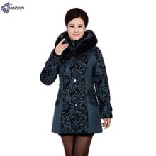 TNLNZHYN Women cotton Down jacket coat winter NEW fashion thickening warm hooded fur collar casual large size female coat QQ03