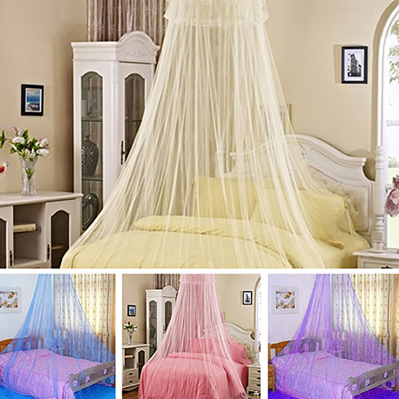 Elegant Lace Insect Bed Canopy Netting Curtain Round Dome Mosquito Net Bedding ...