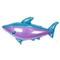 Qgqygavj 10 шт./лот 115 см * 85 см большая акула Фольга шар счастливый день рождения украшения шаров Детские игрушки