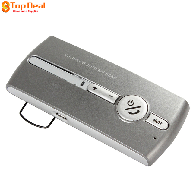 Car Sun Visor Wireless Bluetooth Hands-free Speakerphone Loud Connection Multipoint Bluetooth Hands Free Bluetooth Car Kit