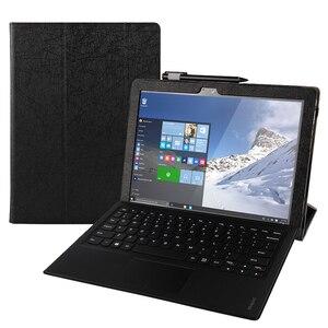 Image 2 - Dla Lenovo Miix 510 Case Ideapad MIIX 5 ochronne etui do smartfona Faux Leather Tablet Miix5 pokrowiec ze sztucznej skóry MIIX510 rękaw pokrowca