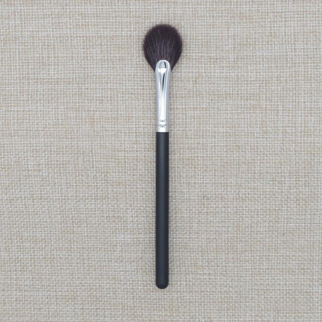 R12 profesional cepillo pequeño ventilador resaltador cepillo manualmente incluido suave Sokouhou de maquillaje de pelo de cabra
