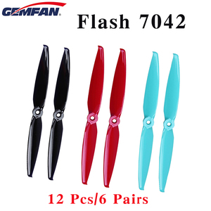 12 Pcs/6 Pairs Gemfan Flash 7042 7.0x4.2 PC 2-blade Propeller 5mm Mounting Hole FPV Propeller for FPV RC Drone(China)