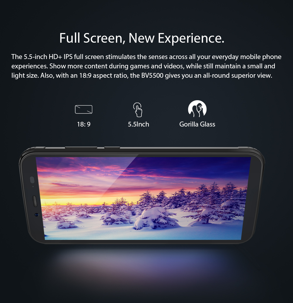 "Image 5 - Blackview BV5500 Pro 4G IP68 Waterproof Smartphone 3GB+16GB 5.5"" 18:9 Screen 4400mAh MT6739V Android 9.0 Dual SIM Mobile Phone-in Cellphones from Cellphones & Telecommunications"