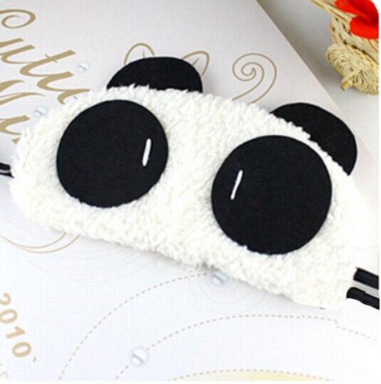 Drop Shipping Kawaii Panda Sleeping Cute Eye Mask Nap Cartoon Eye Shade Sleep Black Mask Bandage On Eyes For Sleeping