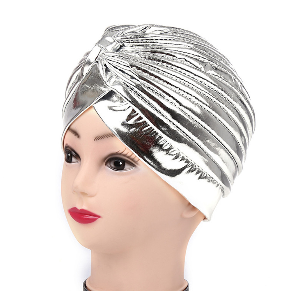 women s winter hats India Gilding Stretch Turban Hat Chemo Cap Hair Loss  Head Scarf Wrap balaclava d479b57503