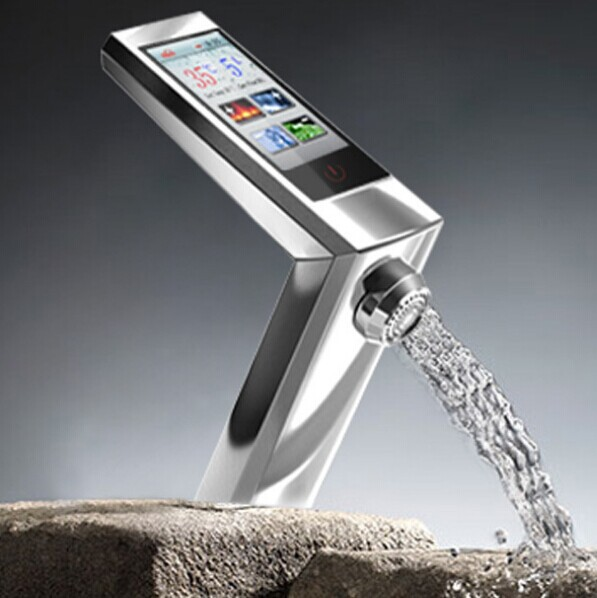 touch basin faucet digital thermostat faucet mixer basin mixer bathroom faucet sink faucet tap torneira misturadora