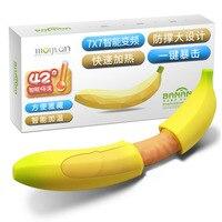 MG 123 Creative Look USB Rechargable Banana Shape AV Vibrator Silicone Vibrating Massager Female Sex Toys