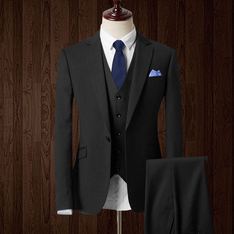 2019 New Arrival Groom Tuxedos Custom Made Man Suit Fashion Groomsman Suit  Slim Homecoming Suit(Jacket+pants+vest)