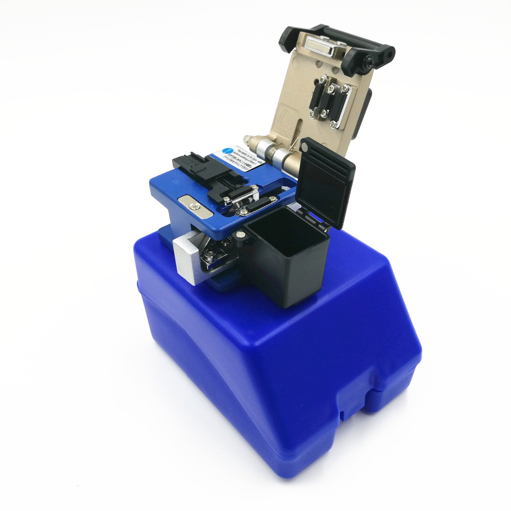 With Waste Fiber Box  Fiber Cleaver Optic Connector FC-6S Optical Fiber Cleaver Fiber Cutter Plastic Box