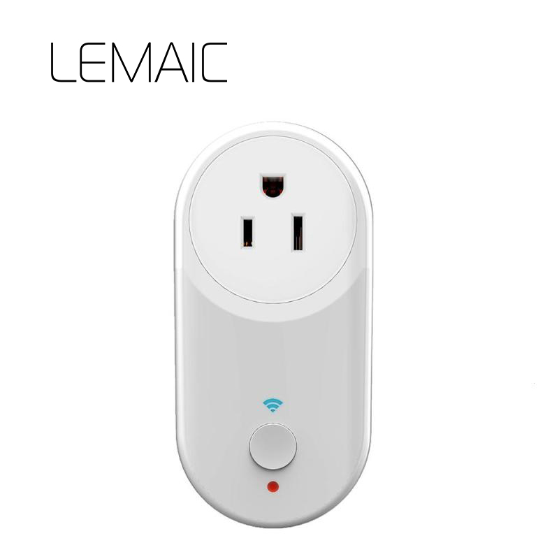 LEMAIC EU wifi power socket plug outlet cell phone Wireless Controls for iphone ipad Android smart Home Remote control switch wifi plug remote control smart power timer socket switch for android iphone t31