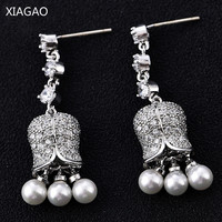 XIAGAO New Arrival Wind Chimes Created Pearl Dangle Earrings For Women Luxury Jewelry For Women New