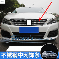 30PCS/LOT car sticker car accessories stainless steel Front Grille Reflective decorative cover for 2015 2016 2017 Peugeot 308 T9