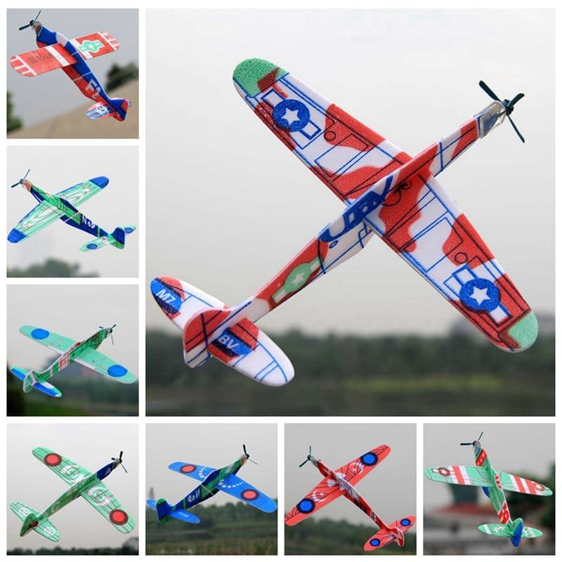 1 Pc Bubble Zweefvliegen Kleine Vliegtuig Luchtvaart Model Kinderen Speelgoed Zweefvliegtuig-willekeurige Kleuren