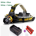 New Head Light Fishing LED Headlamp 2 LED Headlight Flashlight Torch Head Lamp Waterproof With Charger 18650 Battery for Fishing