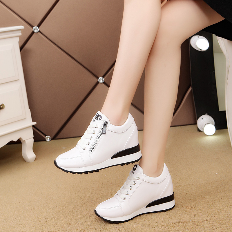 Fashion Women Casual Shoes New Arrival Breathable Fashion Waterproof Wedges Platform Lace-up Shoes