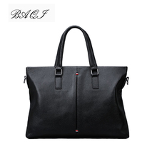 купить BAQI Brand Men Briefcase Bag Genuine Cow Leather Men HandBags 2019 Fashion Computer Business Bag Men Shoulder bags Messenger Bag по цене 3282.61 рублей
