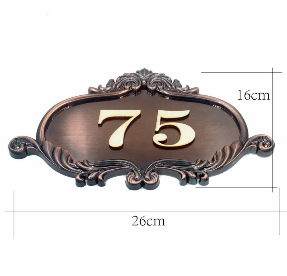 Дом номер Европейский стиль знак на дверь заказ квартиры ворота даче панели