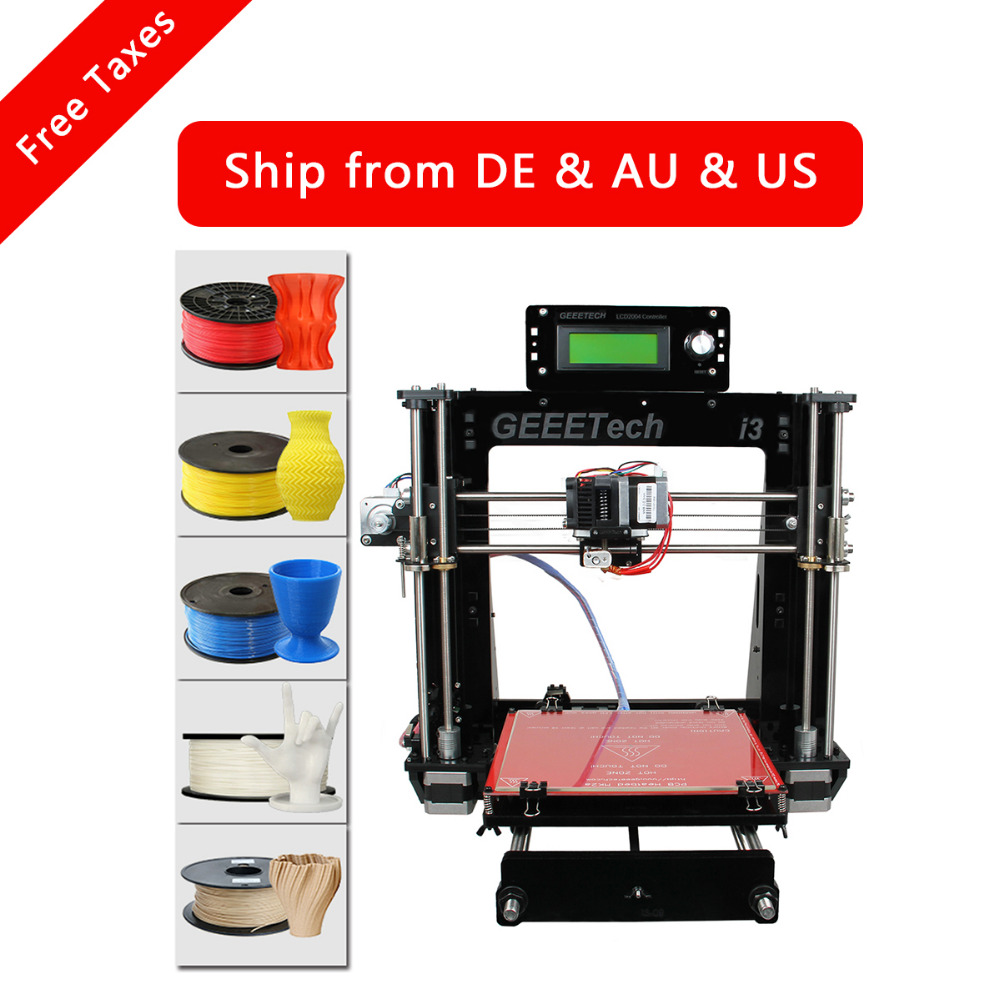 Geeetech Prusa i3 Pro B 3D Printer Acrylic Frame High Precision Impressora DIY Kit LCD Free 2016 Newest Machine