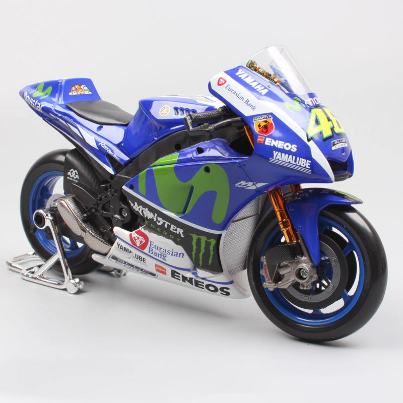1/10 MotoGP 2016 YAMAHA Factory racing YZR M1 No.46 Valentino ROSSI Motorcycle enduro Diecast large scale Motocross models toys 2017 valentino rossi vr46 for yamaha racing blue motogp mens felpa zip up sweater