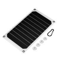Портативная 10 Вт IP64 Водонепроницаемая солнечная панель мобильные зарядное устройство 5 В USB мощная зарядка LB88