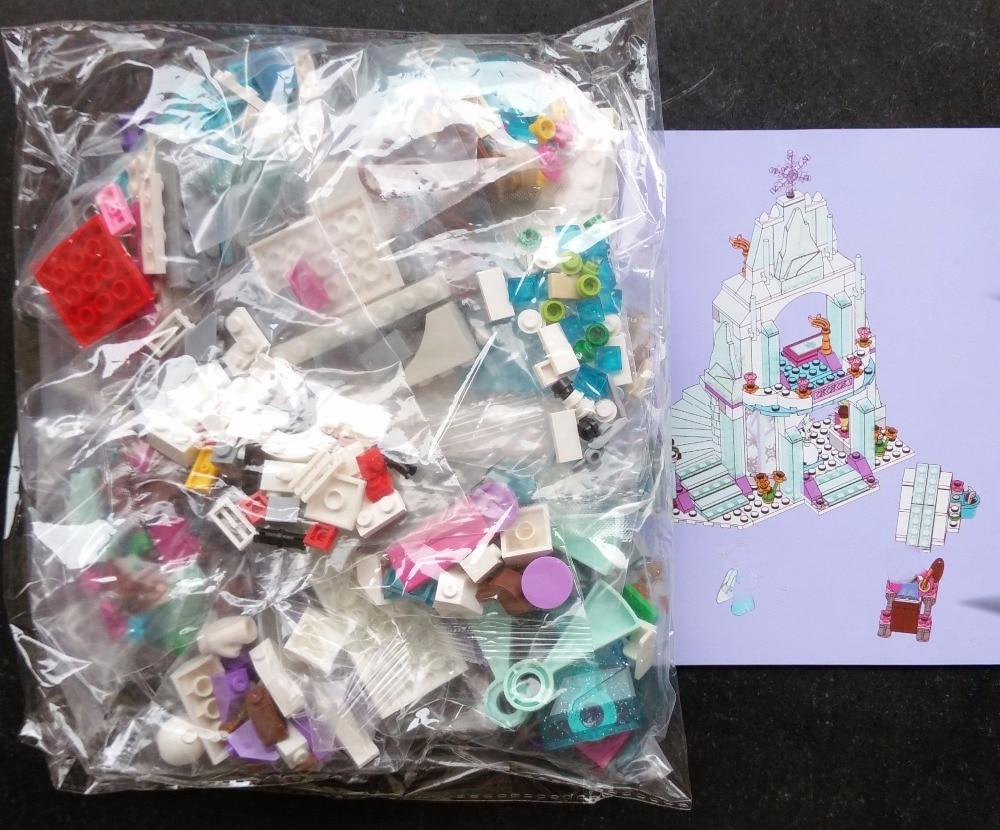 9001 Princess Elsa Enchanted Ice Castle Blok Bangunan Untuk Girl - Mainan pembinaan - Foto 4