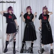Японская форма для плохих девушек JK, базовая плиссированная юбка, отличные студенческие супер-длинные платья для колледжа JKL025