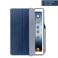 For IPad Pro 12 9 Case PU Leather With Pencil Holder Auto Sleep Wake Smart Cover