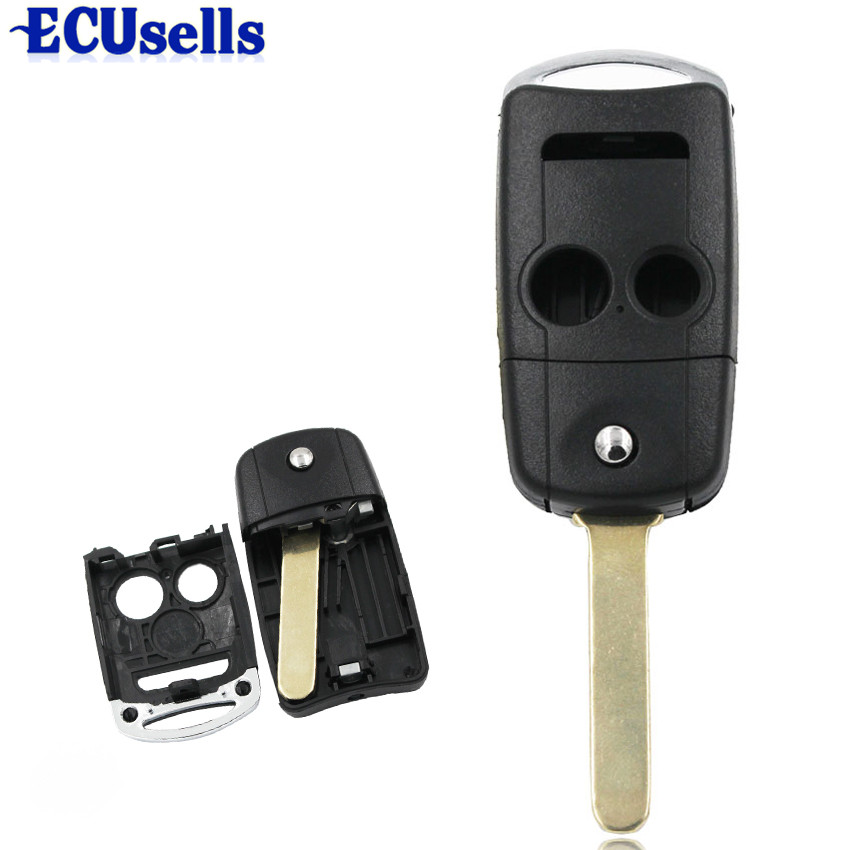 2+1/3 Buttons Folding Remote Key Shell Case Fob For Acura