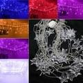 Luminarias Multicolor 3.5 M 100 LEDs 16 p cristal estrellas LED cortina de luz para boda de la navidad decoración araña
