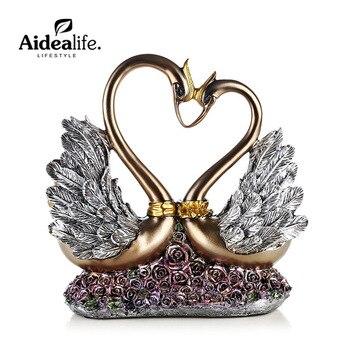 fairy garden animals birds resin cabochon 50th anniversary gifts chinese wedding  angel figurines desk decoration