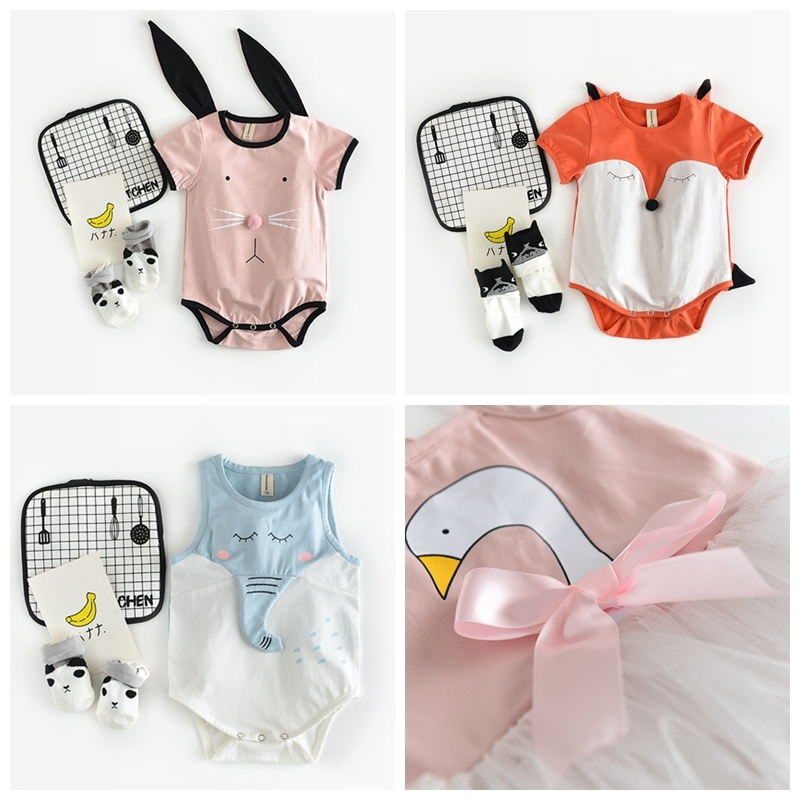 Newborn Baby Rompers Baby Clothing Set Fashion Cotton Infant Jumpsuit Short Sleeve Girl Boys Character Rompers