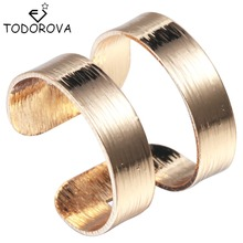 Todorova Hot Sale Silver Women Men Adjustable Finger Rings Female Special 2 Lines Jewelry Wedding Engagement Ring