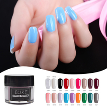 ELIKE dip nail powder set 10g shining color stronger and more durable no need activator to dry chrome design