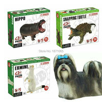 4D Master Anatomy Ermine Snapping Turtle Hippo Anatomy Life Size Animals Model 4D Educational Puzzle Medical Science Doll Toys