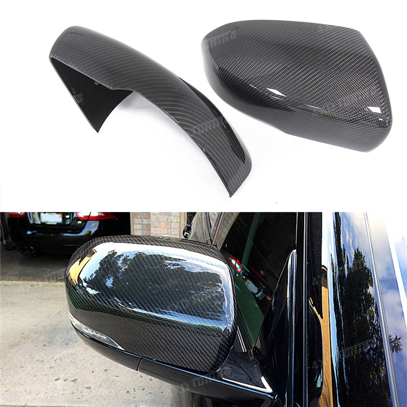 For Land Rover Range Rover Evoque Carbon Fiber Mirror Cover Rear View Side Mirror Replacement&Add On Style Gloss Black 2012 2013