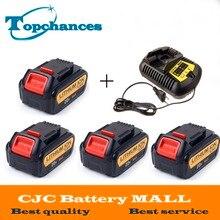 4PCS High Quality 20V 4000mAh Power Tools Batteries Replacement Cordless for Dewalt DCB181 DCB182 DCD780 DCD785