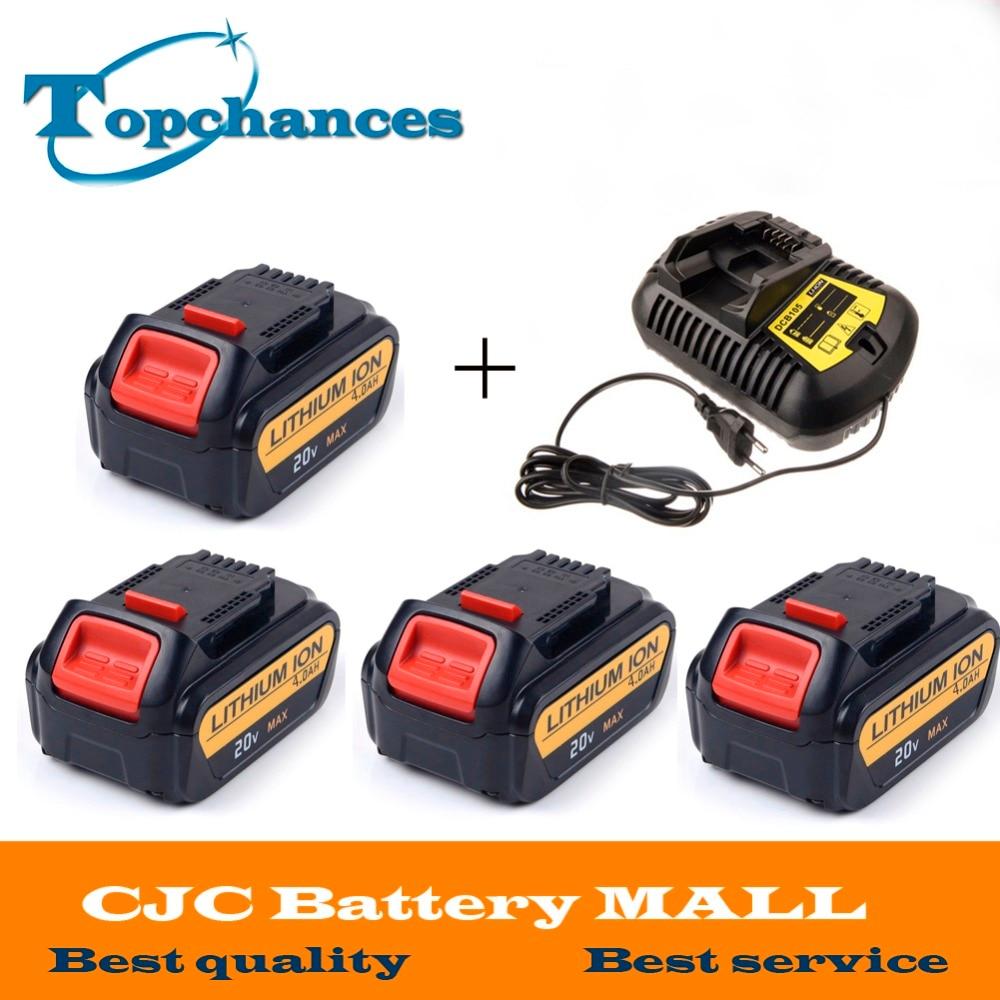 4PCS High Quality 20V 4000mAh font b Power b font font b Tools b font Batteries