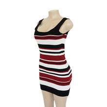 Summer Dress 2018 New 3 Colors Striped Knitting Sweater Dress Sexy Off Shoulder  Bodycon Dress Plus Size Women Clothing