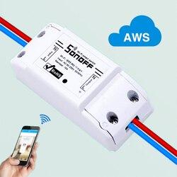 ITEAD Sonoff sans fil Wifi commutateur universel intelligent domotique Module minuterie bricolage Wifi télécommande Via iOS Android Alexa