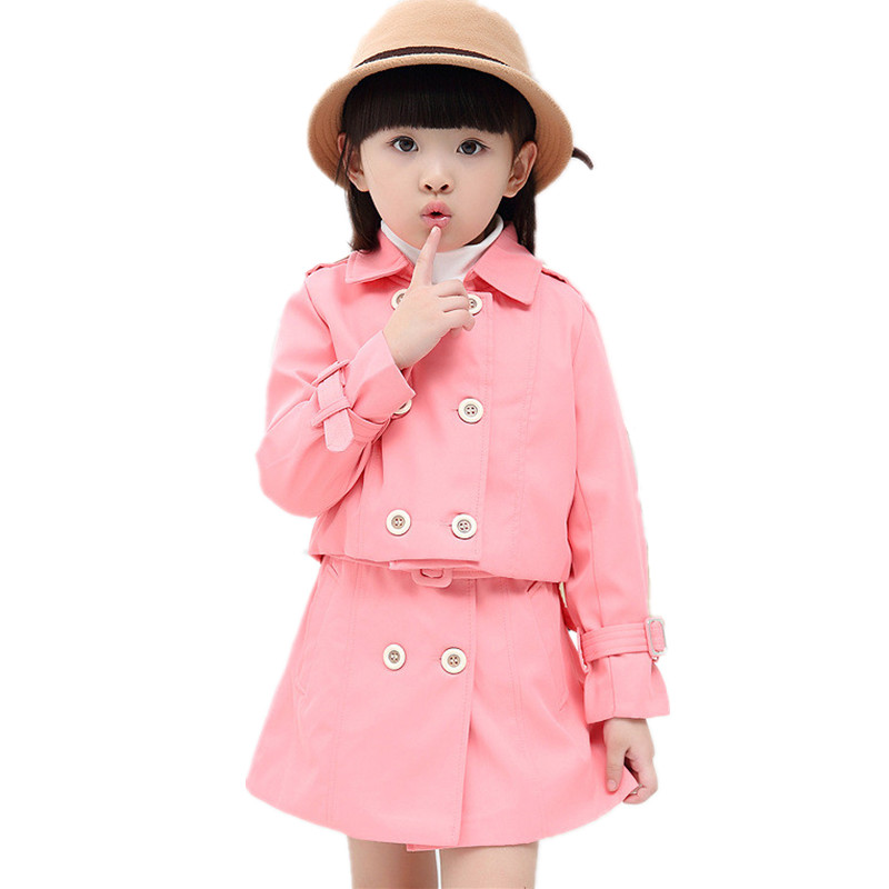 Spring Autumn Quality Girls Sets Brand Casual Coat Dress Set Casaco Kids Clothes Suit Next Children Clothing Fashion Tracksuit