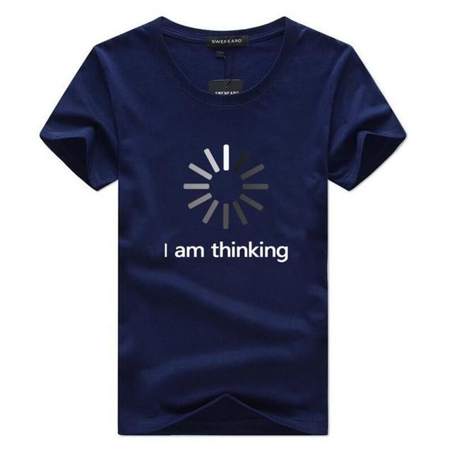 SWENEARO męskie koszulki Casual O-Neck krótkim rękawem druku śmieszne koszulki z krótkim rękawem mężczyźni moda lato marka koszulka homme topy rozmiar 5XL