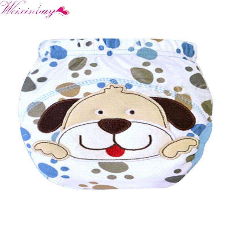New Lovely Newborn Baby Panties Cloth Diaper Cloth Training Pants Diaper Cover Baby LABS Pants Nappies