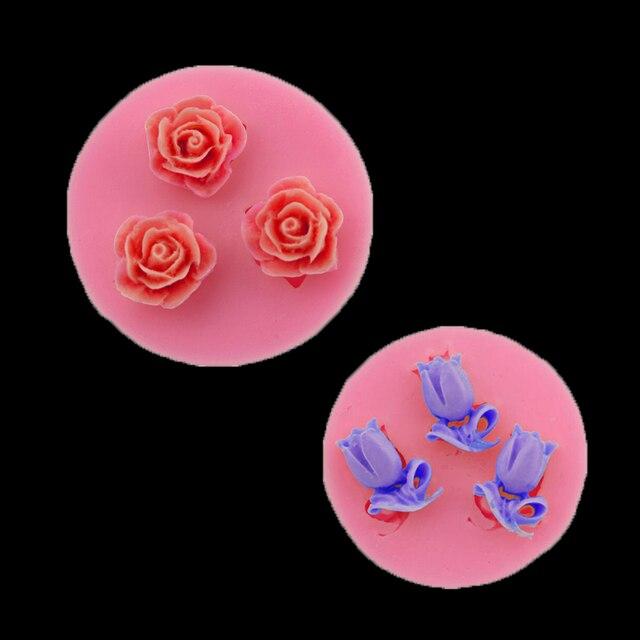 Rose Silicone Della Muffa Della Torta Nuziale Decorativa Biscotti Al Cioccolato