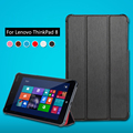 "Para Lenovo Thinkpad 8 8.3 "" Tablet capa de couro luxo PU Thinkpad8 tampa do suporte escudo protetor"